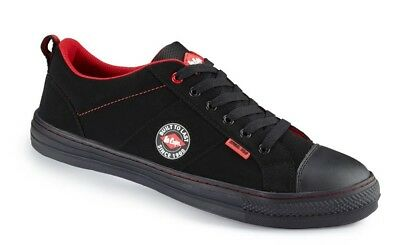 Lee Cooper Workwear Mens Black Low Top SB SRA Baseball Safety Shoes Size 7-12