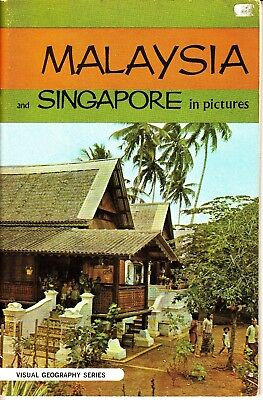 Malaysia and Singapore in Pictures Visual Geography Series Book James Nach 1971