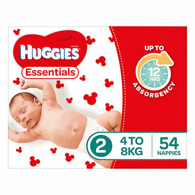 NEW Huggies Essential Stage 2 Infant - 54 Pack