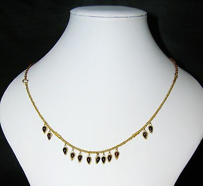 Greek- Hellenistic period Solid Gold Necklace with Garnets!