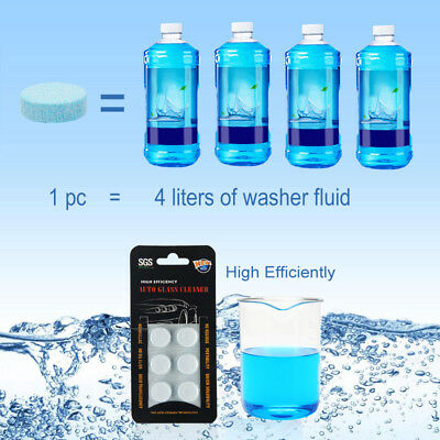 6x Solid Washer Concentrate Making Up Windshield Washer Fluid Screen Wash Wiper