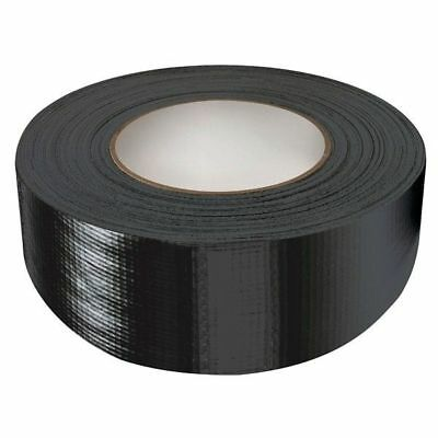 "2 X DUCK DUCT GAFFA GAFFER WATERPROOF CLOTH BLACK TAPE 2"" 48MM x 50M #2"