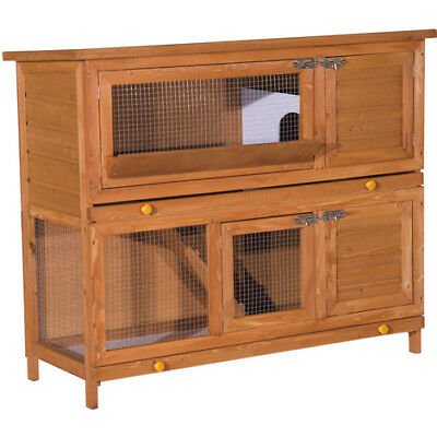 NEW Large Wooden Pet Rabbit Hutch Run Hutches Cage Guinea Pig Ferret House Garde