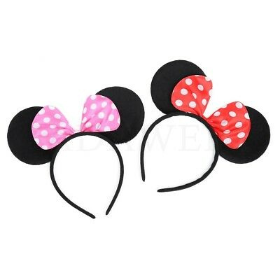 Minnie Mouse Haarreif rosa rot