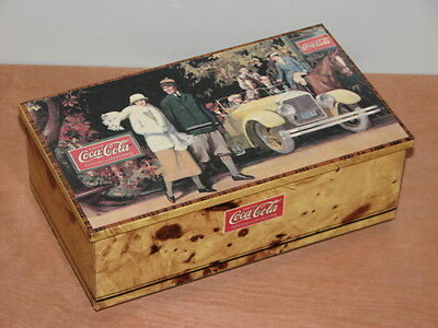 Vintage 1989 Promenade Coca Cola Tin W Hinged Lid Made In France Nice!