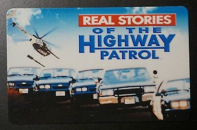 Very Rare Real Stories Of The Highway Patrol Collectible Prepaid Phone Card