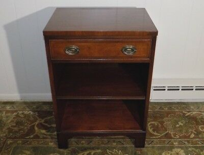 Kittinger Chippendale Mahogany one drawer nightstand end table