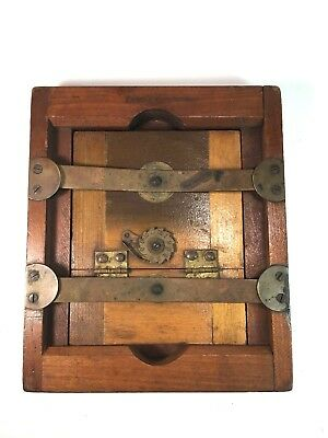 """E&H.T. Anthony Wood Contact Print Frame Brass Dial Dovetail 3 5/8"""" x 4 5/8"""""""