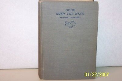 Gone with the Wind Margaret Mitchell 1936 hardcover novel English USA first