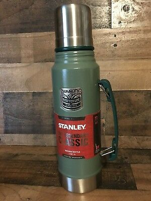 Classic Stanley Vacuum Stainless Steel Green Thermos 1.1 QT Coffee Tea Soup NEW