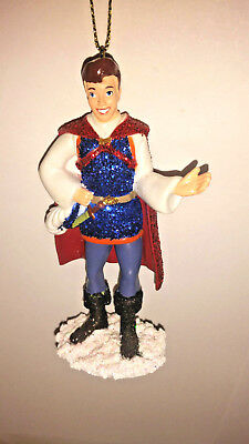 "Disney Snow White The "" Prince "" Glitter Ornament custom handmade NEW Amazing"