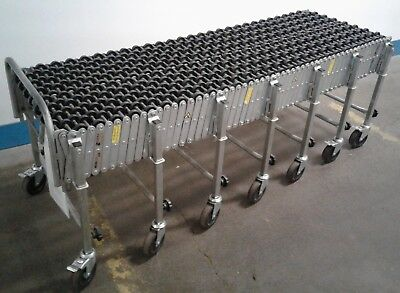 "NESTAFLEX Portable Flexible & Expandable Conveyor-Nylon Skate Wheels-24"" Wide!!"