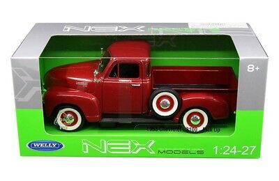 Welly 1/24 1953 Chevrolet 3100 Pick Up Truck Diecast Model Car Red (22087)