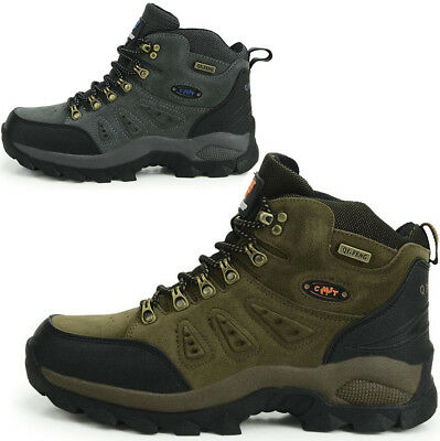 Mens Womens Walking Hiking Boots High Tops Trail Trekking Ankle Trainers Shoes