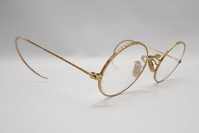 Bausch & Lomb Arco Etched Gold Glasses Frames 1/10 12K GF Gold Spectacles 8014