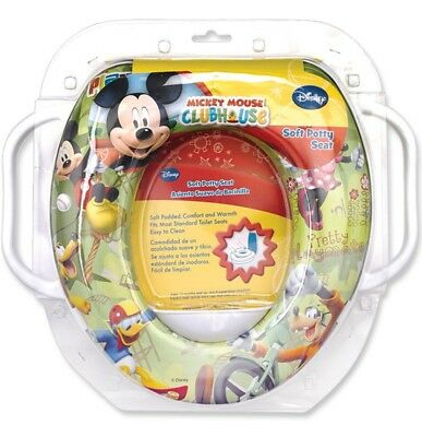 Disney Baby Toddlers Soft Potty Training Seat Toilet Trainer With Side Handles