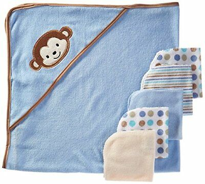 Baby Toddler 6 Pack Hooded Towel And Wash Cloths Set For Baby Boy Or Girl