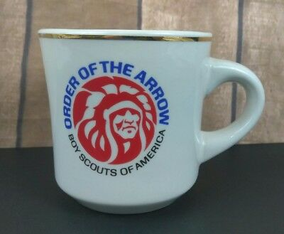 VTG BSA Boy Scouts of America Order of the Arrow Mug Thick Restaurant Style!