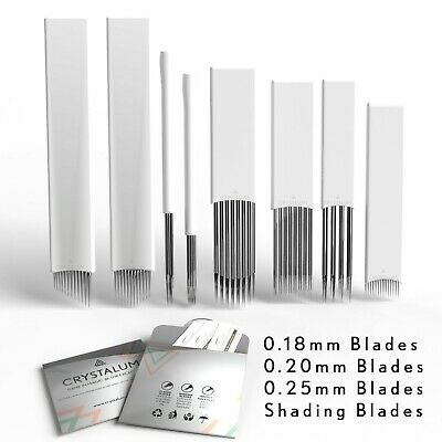 Microblading Blades Shading Needles Eyebrow Tattoo Curved Manual  CRYSTALUM®