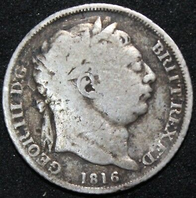 1816 George III Sixpence | Silver | Pennies2Pounds