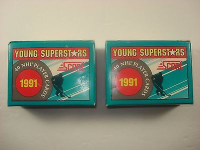 -QTY of 2- NHL - 1991 SCORE YOUNG SUPERSTARS HOCKEY 40 Card Set s1