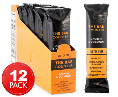 12 x The Bar Counter Cashew and Coconut GF Bars 40g