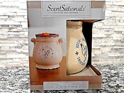 ScentSationals Scented wax warmer, Hello Sunshine Full Size Warmer with 25W Bulb