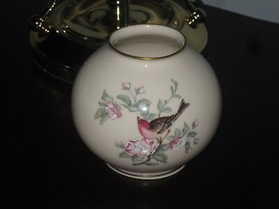 Vintage Lenox Serenade Bud Vase Hand Decorated With 24k Trim Floral