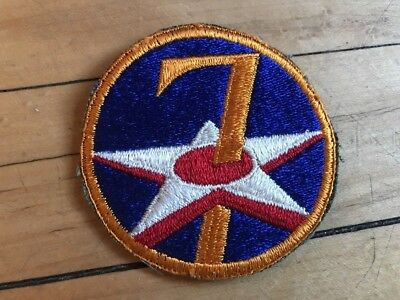 Vintage WWII 7th Air Force Patch MIlitary USAAF