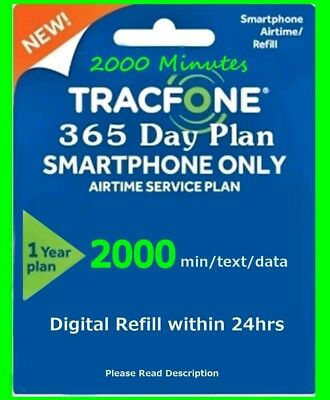 Smartphone Tracfone Minutes Voice 2000, 2000 Sms, 2000 Data, 365 Service Days
