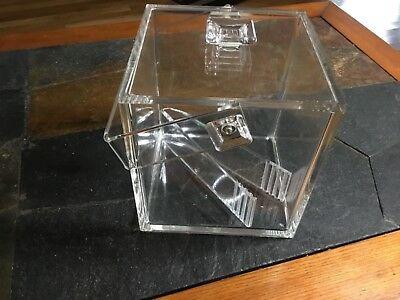Midcentury Modern Style Lucite Ice Bucket with Tongs
