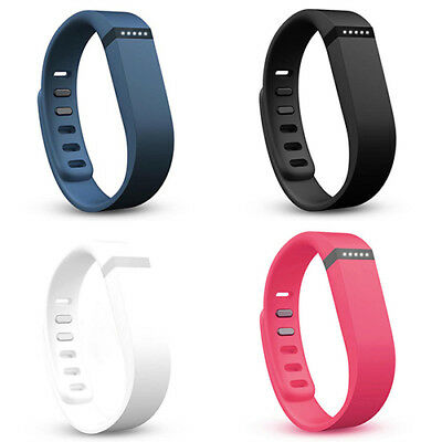 L/S Replacement Band Wristband Bracelet + Metal Buckle Clasp for FITBIT FLEX  W