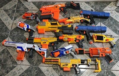 Nerf Gun Lot of (14) Longshot,Deploy ,Rival, Alpha Trooper And More !!!