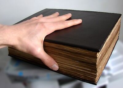 Big Old Book - Medieval looking handmade custom leather prop art treasure book