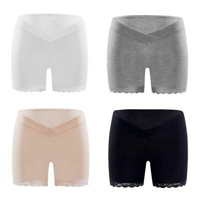 Women's Lace Maternity Shorts Panties Support Pregnancy Boxer Underwear Pregnant