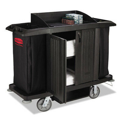 Rubbermaid Commercial Full-Size Housekeeping Cart RCP6191BLA