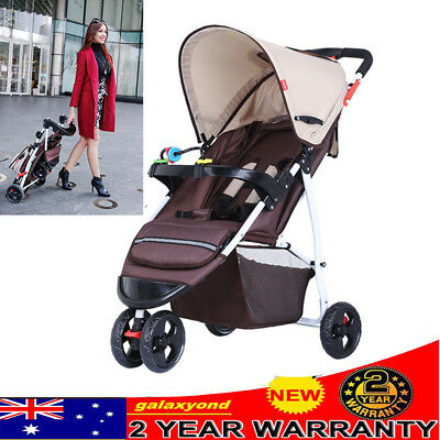 Lightweight Baby Toddler Stroller Jogger Generic Pram Compact Fold Travel 3Wheel