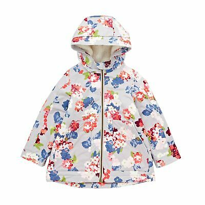 Joules Utility Aop Waterfall Girls Jacket Coat - Bloomin Floral Glass All Sizes