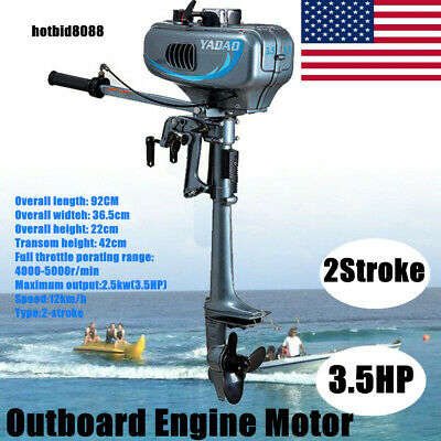 2019 3.5HP Outboard Engine Motor 2Stroke Boat Engine Water Cooling System US HOT