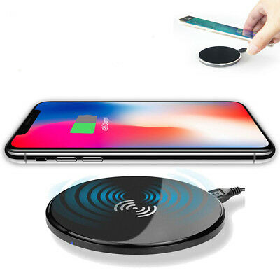 Fast Qi Wireless Charger Charging Pad for Samsung Galaxy Note 8 S9 S8 iphone Xs