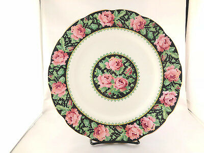 "Beautiful Vintage Royal Albert Needle Point 10.5"" Inch Dinner Plate"