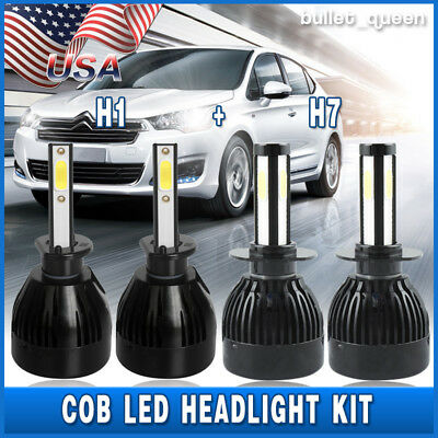 H1 + H7 Combo White LED Headlight Kit for Hyundai Sonata Elantra High Low Beam