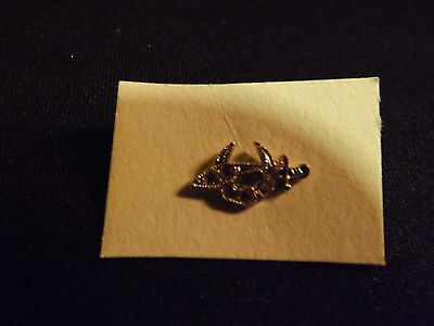 Vintage Masonic Sword and Moon pin sterling sliver. LOOK!