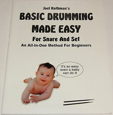 Basic Drumming Made Easy For Snare Drum And Set Joel Rothman Notenbuch NEU