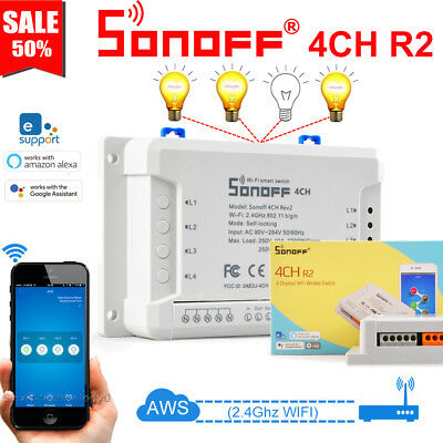 Sonoff 4CH/4CH R2 Channel Remote Ctrl Smart WiFI Switch Home Automation Timer