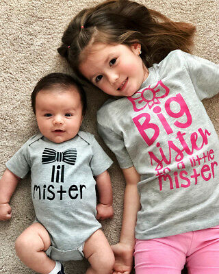 Canis Family Matching Kids Baby Little Brother Romper Big Sister T-shirt Clothes