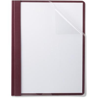 TOPS Oxford Linen Finish Clear Front Report Covers, Burgundy, 25 / Box...