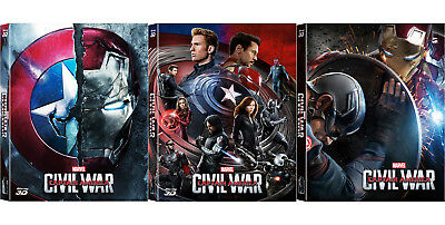 Captain America: Civil War - Blu-ray Steelbook Full Slip, Lenticular / WeET