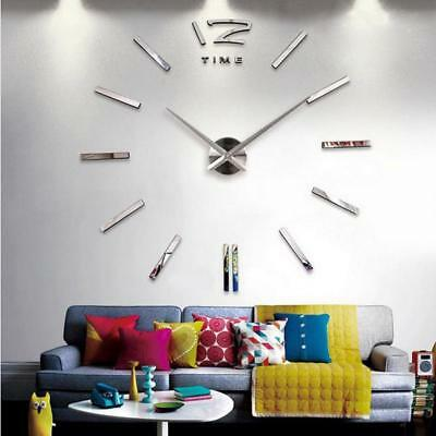 Big Wall Clock Modern Design Living Room Quartz Abstract Pattern Antique Style