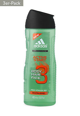 3x 400ml adidas Duschgel Active Start 3in1  [4,15€*/1L]